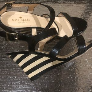 Kate Spade wooden wedge sandals